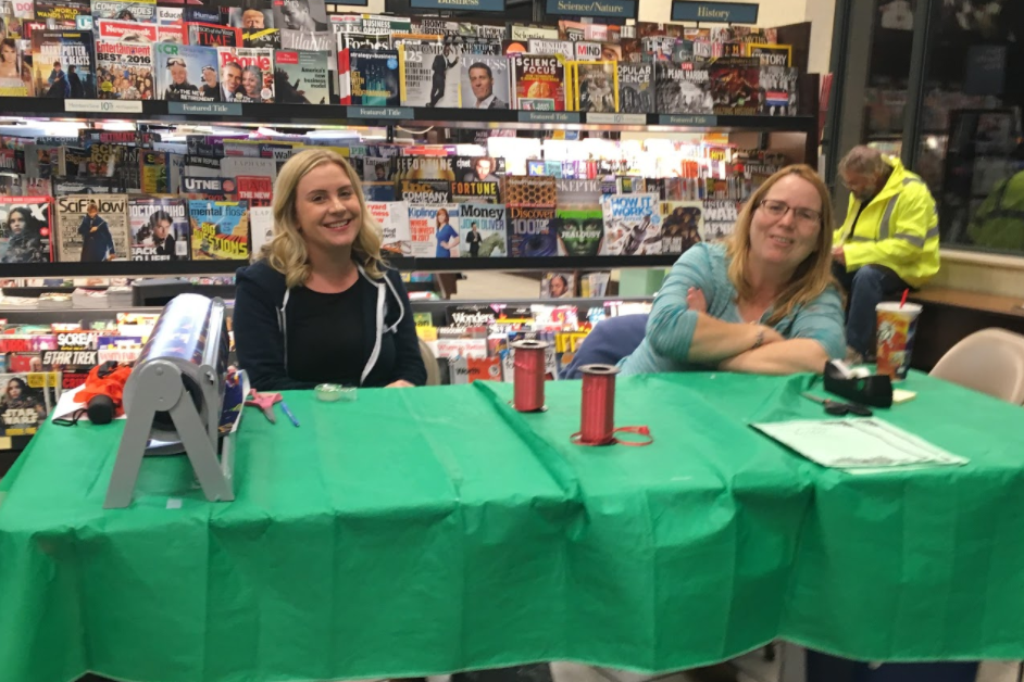 Thank you to the families who volunteered at the gift wrapping table this weekend for the Westlake Bookfair at Barnes & Noble. Thank you families for your participation in the bookfair and the Family Night event.