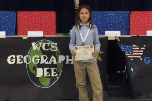 Our Geography Bee winner for the 2016-17 school year was 5th grader Andrew Romero. He is a two time geography winner! Impressive!