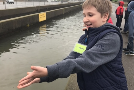 3rd grade students extended their learning on the migratory patterns of salmon during their field lesson at the Nimbus Fish Hatchery.
