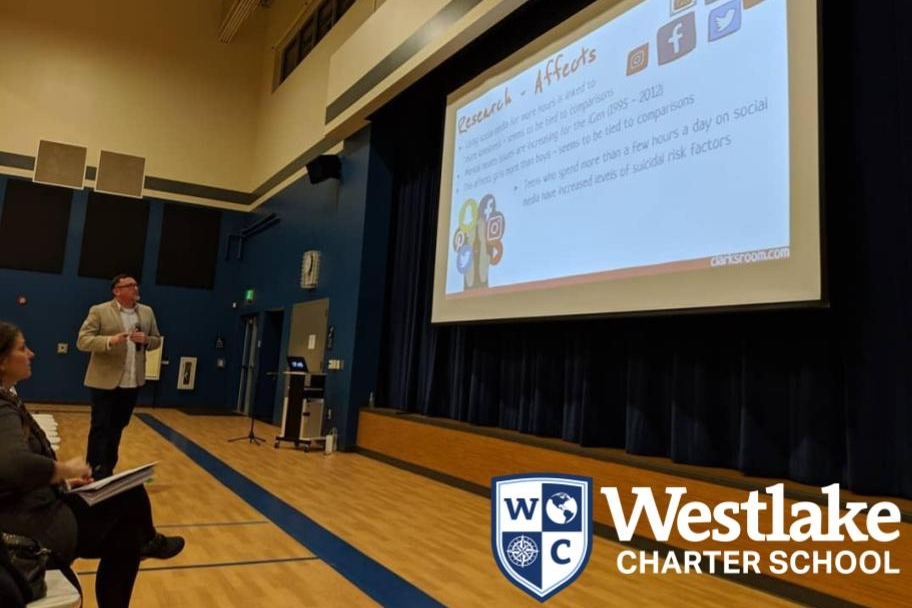 Thank you to our families who came to learn from our staff-led sessions during Parents Go To School Night! Special shoutout to Joe Clark of @Clarksroom for the awesome keynote about navigating social media with your child. #WestlakeCharter