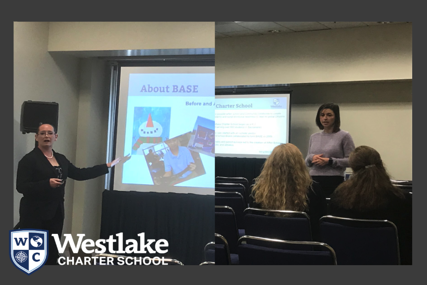 Our BASE director and AS Live coordinator presented our programs at the CCSA (California Charter School Association) conference this week. Other charter schools were excited to learn how to build their own dynamic after school program.
