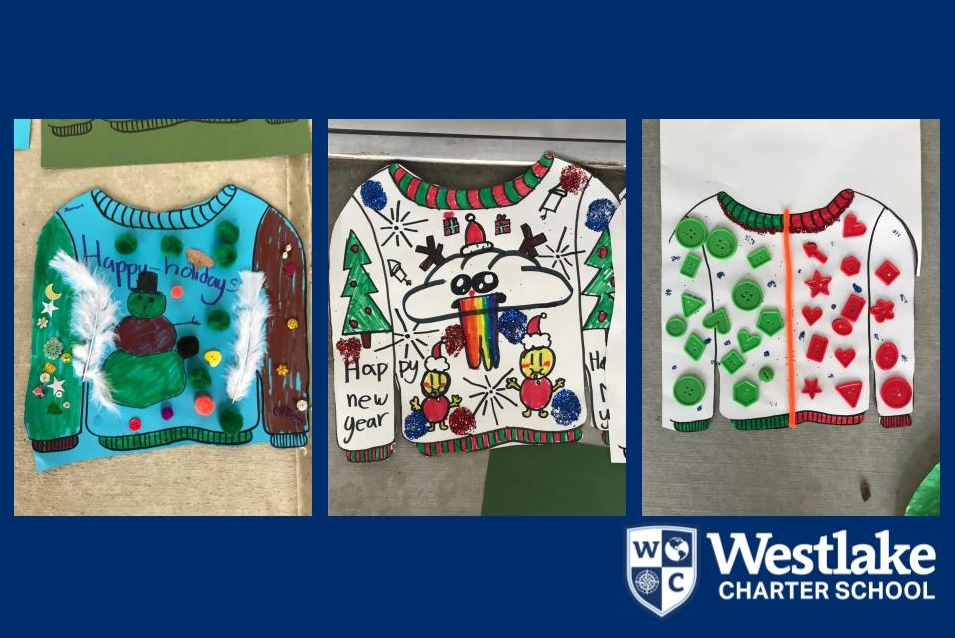 Thanks to our fantastic BASE staff for providing engaging opportunities for our students over winter break! Check out the ugly sweater decorating contest!