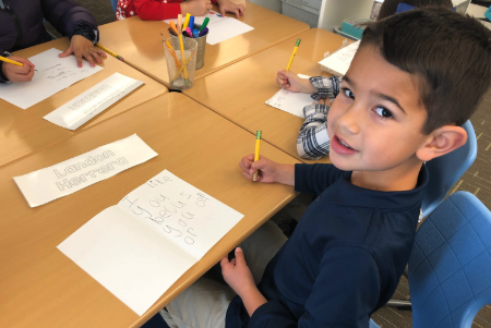 Kindergarten students wrote kindness notes to an adult on campus who have made a difference for them.  These acts of kindness  made everyone's day!