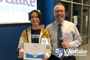 Thank you to all of our students who competed in the school-wide Spelling Bee. Congratulations to 7th grader Amelia Gaspar for winning the spelling bee.