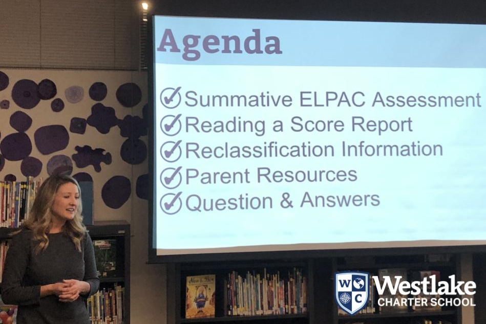 We led a Parent Information Night for families whose students will be taking the English Language Proficiency Assessments for California (ELPAC) this month. Questions were answered about the assessment, the score report  and resources were provided for families to help them support their student with the English Language proficiency assessment.